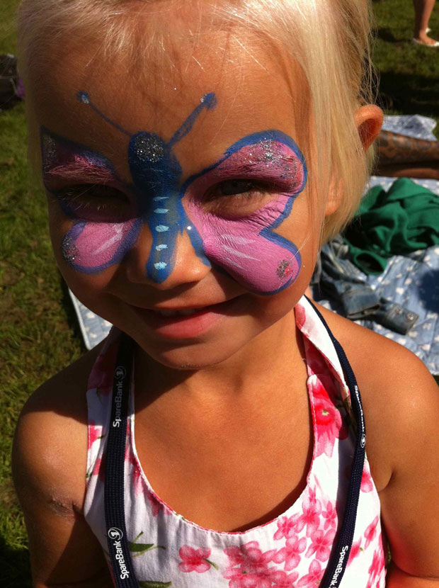 Hannah with face paint