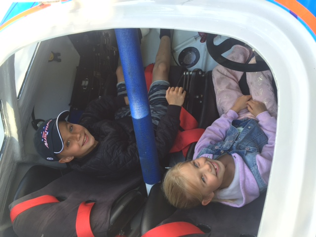 Kids trying the XCAT