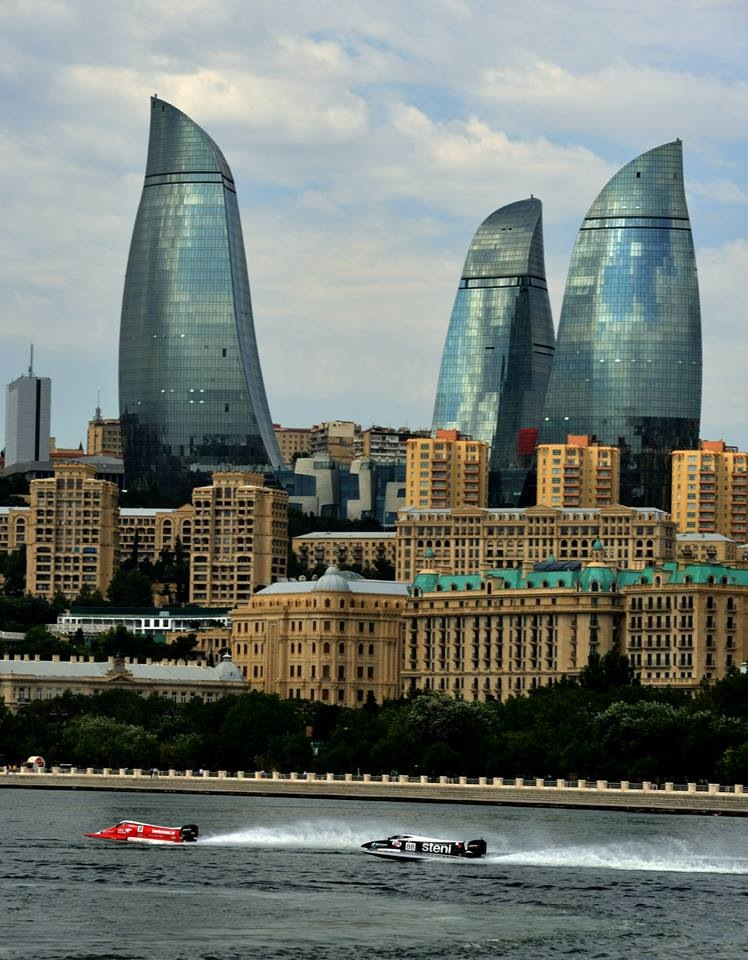 Beautiful scenery in Baku